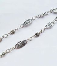 Scroll Oval & Dot Scroll chain. 1m length.